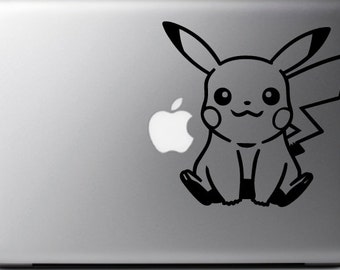 Sticker decal PIKACHU s, POKEMON, for MAC, Macbook Pro/Air, 11, 13, 15 and 17 inches, Pokemon macbook decal