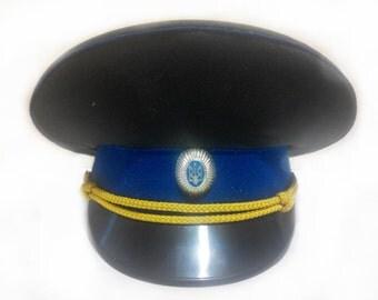 Clearance sale!!!Vintage Ukrainian Army Cap /  Military Hat Cap / Ukraine / Vintage