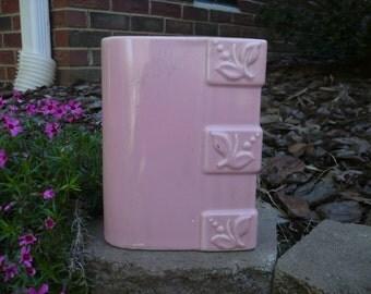 Vintage Pink Rectangular Vase