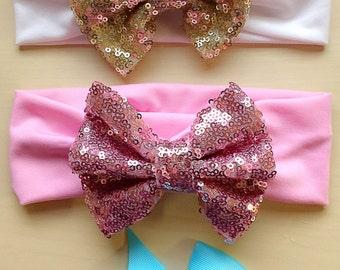 Baby Headband/ Turban/ Bow headband/ Bow clip set