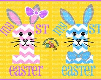 Bunny Bundle, 1st Easter - Bunny Faces SVG & PNG Cut File