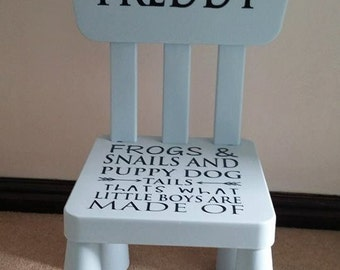 Personalised kids chair, available in PINK or BLUE