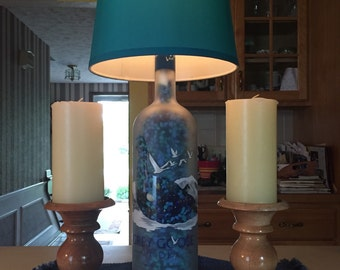 Large 1.75 L Vodka bottle lamp