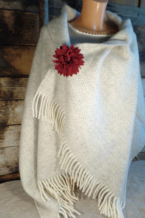 wool shawl gift for her wool wrap wool scarf wool blanket. Black Bedroom Furniture Sets. Home Design Ideas