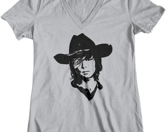 Womens t shirt, tee shirt, The Walking Dead, Custom Printed Tee, TWD, Carl Grimes