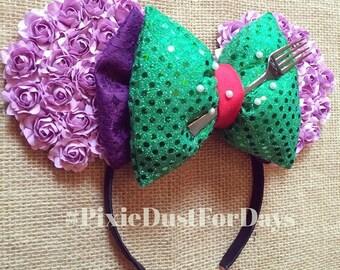 Mermaid Mouse Ears, Ariel inspired mouse ears