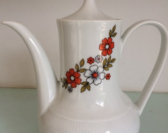 Vintage flower coffee or tea pot