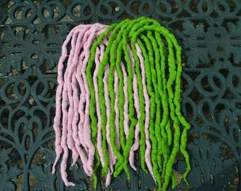 Set of 12 DE wool dreads