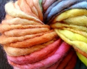 Hand spun yarn - 100% New Zealad Merino Wool 120g