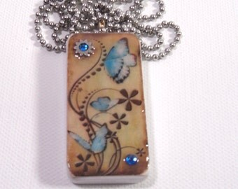 domino tile pendent butterfly