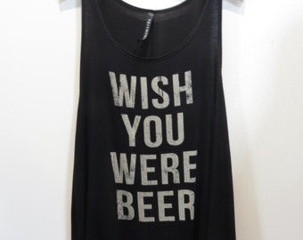 Wish You Were Beer Racerback Tank Top