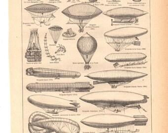 "Vintage ""Aviation"" 1930's French dictionary illustration / Digital download"