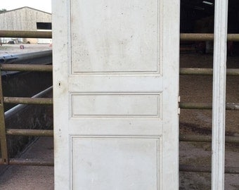 Reclaimed French Panel Pine Cupboard Door With Frame