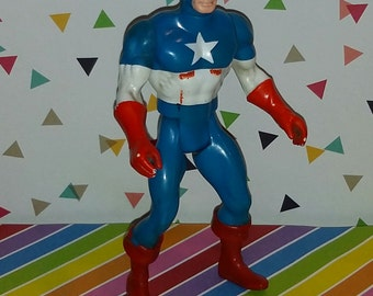 Vintage 1980s Marvel Comics Mattel Secret Wars Captain America Figure