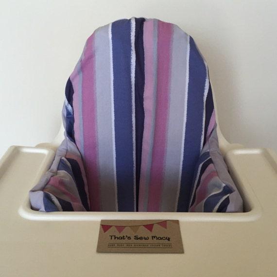 Purple Striped Ikea Antilop Highchair High Chair By