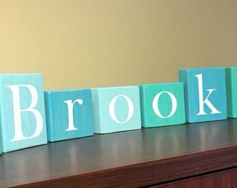 CUSTOM Wooden Letter Blocks Name - Kids Room - Nursery Room - Name Sign