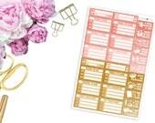 SBC August Faux Glitter Girl Boss Set -- Matte Planner Stickers