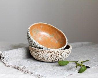 Ceramic bowl Serving bowl Pottery dish Dinnerware Modern ceramics Rustic bowl Organic gift Unique stoneware dish Kitchen table Unglazed