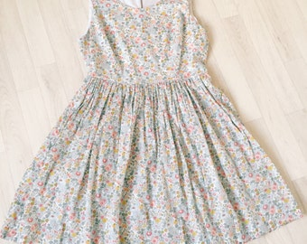 AMY Handmade Women's Liberty of London Print Princess Bodice Dress Tana Lawn Bridesmaid Occasion Party Ladies