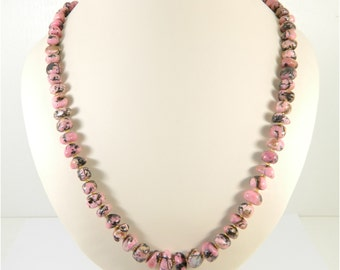Rhodonite stone Beads (25 inch) from Russia