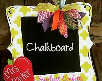 Teachers gift, Teacher Door Hanger, Chalkboard Door Hanger