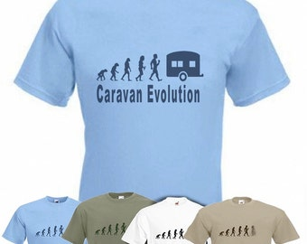 Evolution To Caravan t-shirt Funny Caravaning T-shirt sizes S TO 2XXL