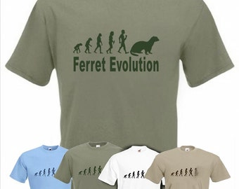 Evolution To Ferret t-shirt Funny Polecat T-shirt sizes Sm TO 2XXL