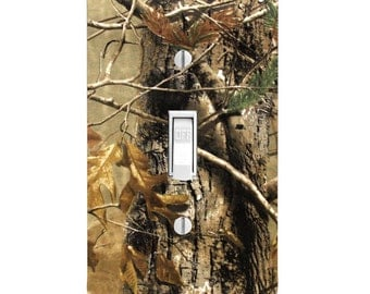 Home Decor Light Switch Cover Camo Camoflauge Man Cave Housewarming Lighting Wall