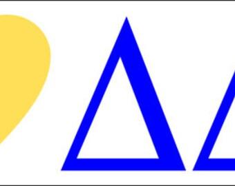 Delta Delta Delta I Love Bumper Sticker
