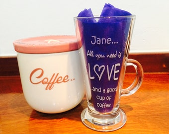 Latte Glass Personalised | Hot Chocolate Glass Personalised