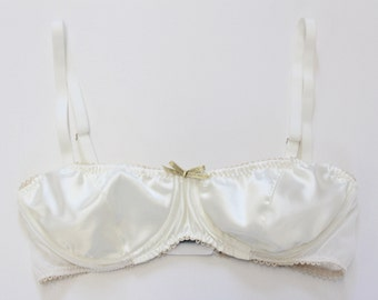 Bridal silk underwire bra