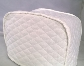White 2 Slice Toaster Cover