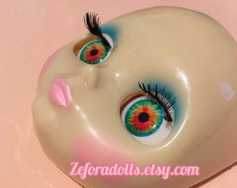 Realistic Rainbow Soft Resin Eye Chips For Blythe (14 mm)