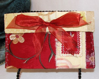 Small Clutch or Phone Case, Pretty in Red,