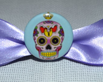 Purple Day of the Dead Bow