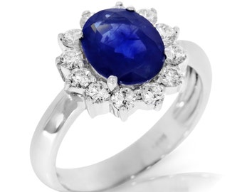 engagement princess kate wedding ring 18k white gold promise ring oval sapphire engagement ring - Princess Kate Wedding Ring