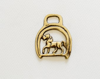 Horse horse Brass - Christmas tree decoration - Equestrian collectable
