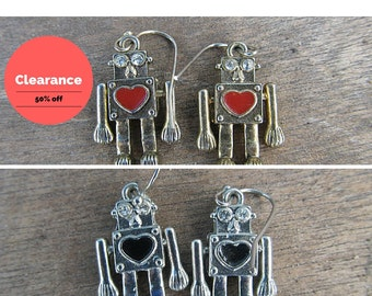 Robot Dangle Earrings