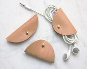 CABLE GLUTTONS, Kabel-Organizer, Kopfhörer Kabelbinder aus Leder, natur
