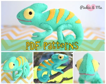 Felt Chameleon PDF Patterns And Tutorials