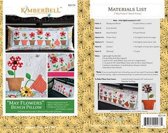 May Flowers Pillow By Kimberbell Designs #KD174