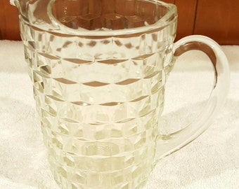 Clear Glass Whitehall Pitcher