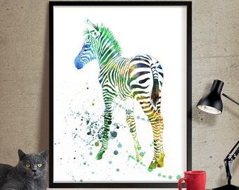 Zebra Watercolor, Zebra Art Print, Watercolor Art, Zebra Print, Watercolor Wall Decor, Watercolor Art, Watercolor Painting, Print(177)