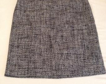 High Waisted Tweed Pencil Skirt
