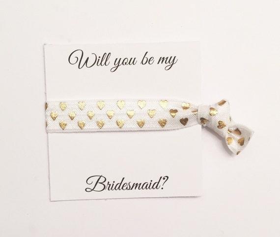 SALE//Bridesmiad hair tie favor//party favor,bridesmaid hair ties, hair tie card, bridesmaid gift, bachelorette party,bridesmaid box