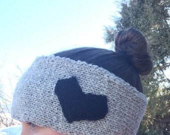 Knit Heart Headband