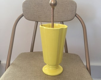 Lovely bright yellow Haeger vase Vintage