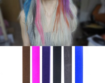 6 Best Temporary Dark Grey Ombre hair Dye for dark and light hair - Set of 6   DIY Grey Ombre hair Chalk for easy and simple hair coloring