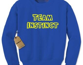 Crewneck Team Instinct Unisex Adult Long Sleeve Crew Neck Phone Game Go Sweatshirt #1323
