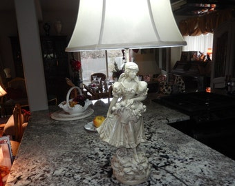 USA FIGURAL LAMP of Woman